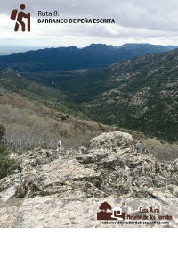 Ruta Barranco de Peña Escrita. C.R. Mirador de los Tomillos